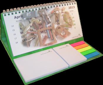 bureaukalender hardcover wire-o met zelfklevende memo's en pagemarkerset