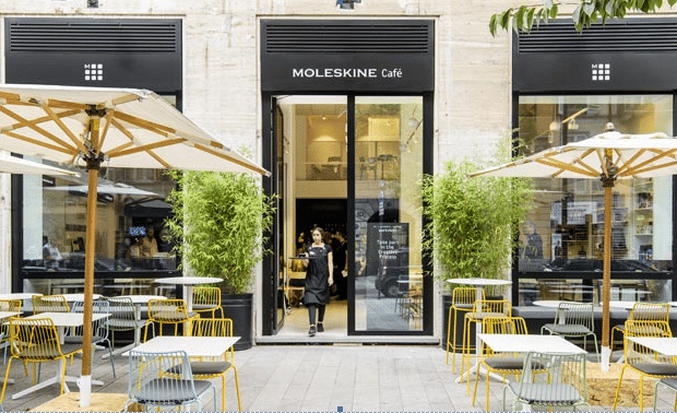 moleskine cafe in milaan