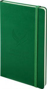 Moleskine groen met logo