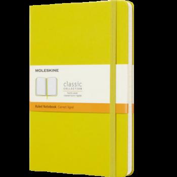 Moleskine Notitieboek geel met logo