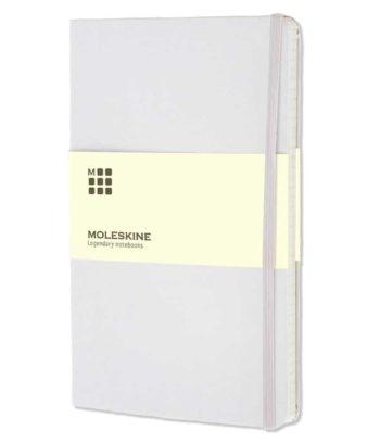 Moleskine notitieboek Wit / WHITE | Bedrukt met logo