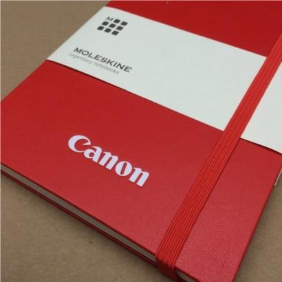 Moleskine notitieboek rood | logo bedrukking canon