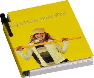 sticky notes boekje met pen
