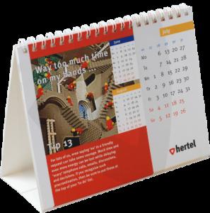 wire-o bureau kalender