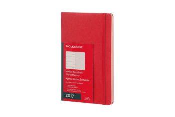 Weekly Notebook Red Moleskine
