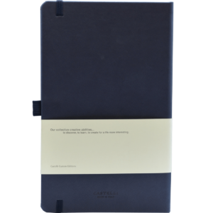 Castelli  notitieboek Soft Touch Donkerblauw 479_achterzijde