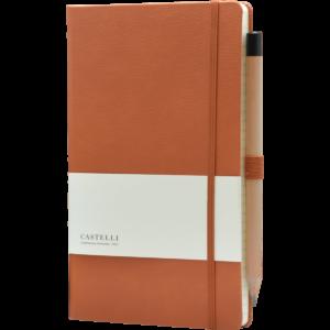 Castelli notitieboek Premium Lederlook Bruin 368