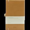 Castelli notitieboek Premium Lederlook Cognac bruin 371 achterzijde