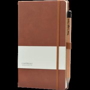Castelli notitieboek Premium Lederlook donkerbruin 387