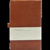 Castelli notitieboek bedruk met eigen logo Premium Lederlook Donkerbruin 387 achterzijde