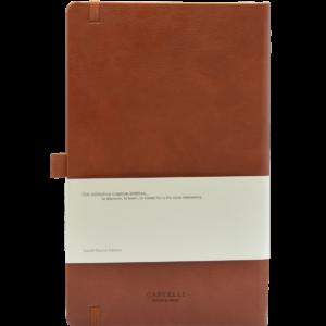 Castelli notitieboek Premium Lederlook donkerbruin 387 achterzijde