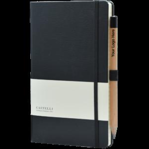 Castelli notitieboek Premium Lederlook zwart
