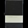 Castelli notitieboek bedrukt met eigen logo Premium lederlook zwart achterzijde