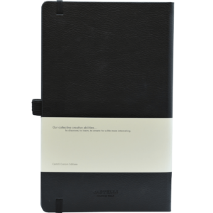 Castelli notitieboek Premium Lederlook zwart achterzijde