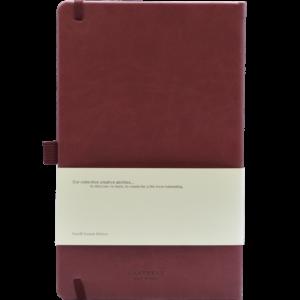 Castelli notitieboek soft touch bordeaux rood achterzijde
