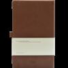 Castelli notitieboek met logo soft touch bruin achterzijde