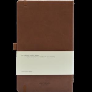 Castelli notitieboek soft touch bruin 461 achterzijde
