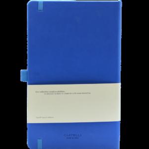 Castelli notitieboek soft touch kobaltblauw 914 achterzijde