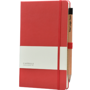 Castelli notitieboek soft touch rood 757