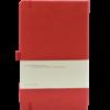 Castelli notitieboek met logo soft touch rood