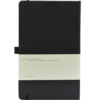 Castelli notitieboek met eigen logo soft touch zwart achterzijde