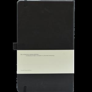 Castelli notitieboek soft touch zwart achterzijde 464