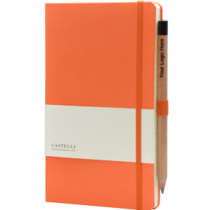 Castelli_notitieboek soft touch oranje 452