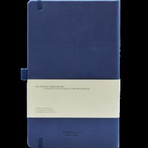Castelli notitieboek Soft Touch Blauw 481_achter