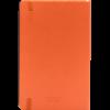 Castelli notitieboek met flexibele kaft bedrukt met eigen logo kleur oranje