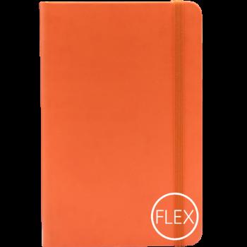 Castelli notitieboek met flexibele kaft oranje bedrukt met eigen logo