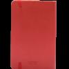 Castelli notitieboekje met flexibele kaft kleur rood achterzijde