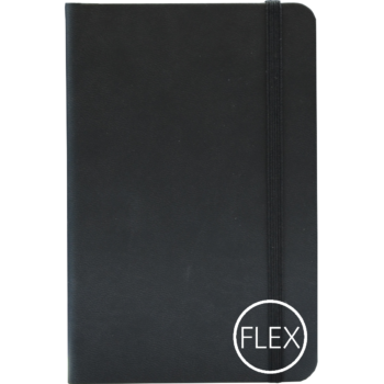 Castelli notitieboek flexibele kaft zwart bedrukt met eigen logo