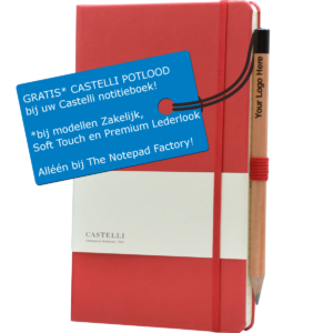 Castelli notitieboek met gratis potlood