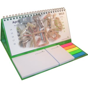 Bureaukalender met post-its luxe