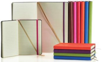 notitieboek castelli met logo bedrukt in diverse kleuren