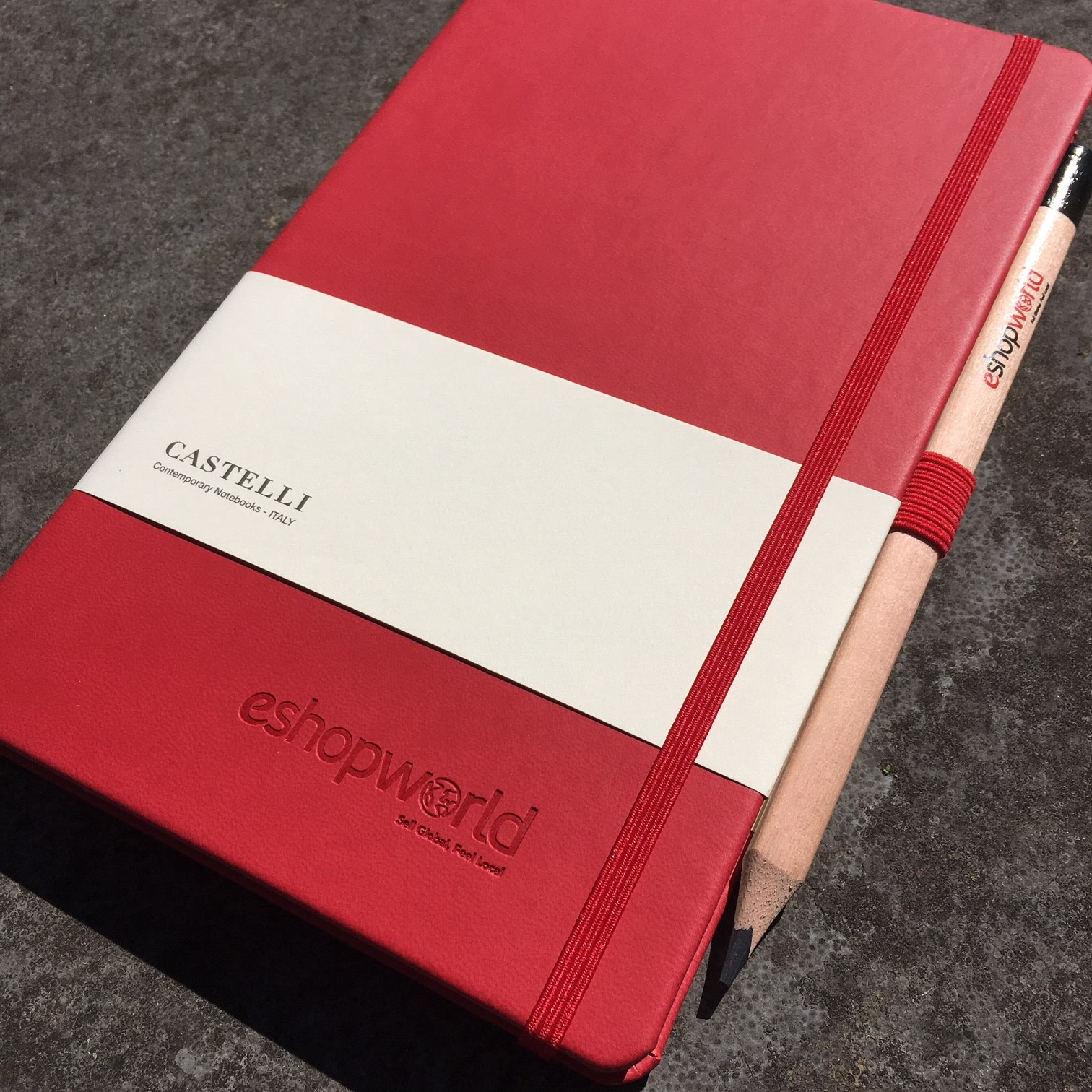 Castelli Soft Touch Rood met preeg The Notepad Factory