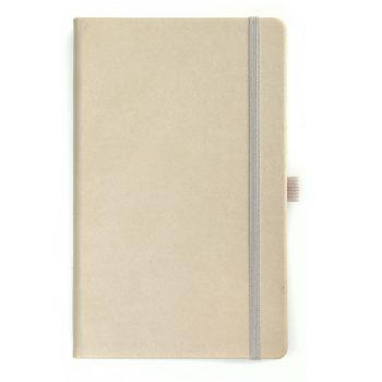 Beige Notitieboek - Op maat leverbaart en met logo