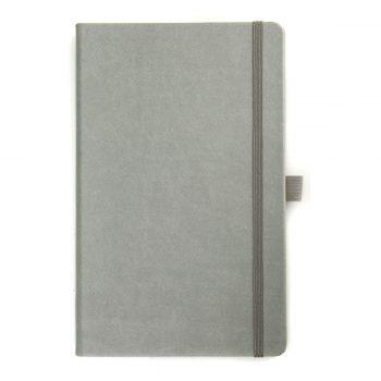 Lichtgrijs notitieboek - op maat gemaakt met logo