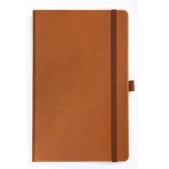Notitieboek Tan lichtbruin - Met logo bedrukking