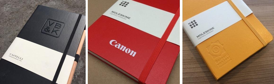 Notebooks met logo bedrukking - Voorbeelden