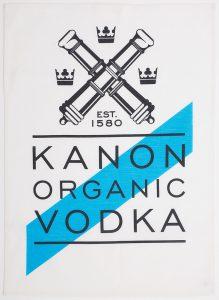 Theedoek met logo Kanon Wodka