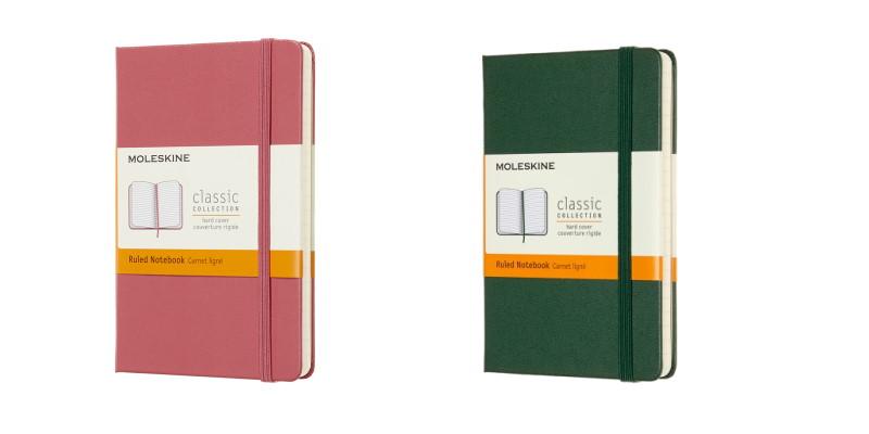 Twee nieuwe moleskine notitieboek kleuren