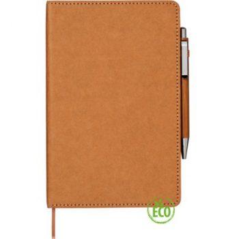 notitieboek met pen kraft bamboe duurzaam