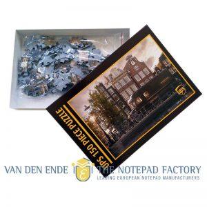 Puzzel met logo in doos 150 stukjes met eigen bedrukking_VANDENENDE