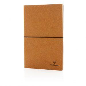 Recycled leder notitieboek 1