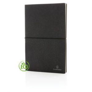 Recycled leder notitieboek zwart 1_web