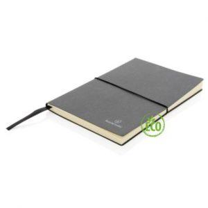 Recycled leder notitieboek zwart 2web