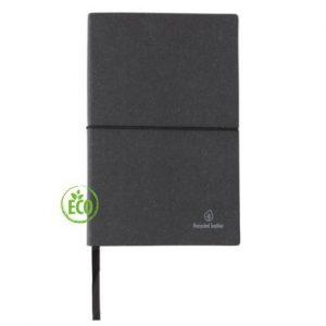 Recycled leder notitieboek zwart 4_web
