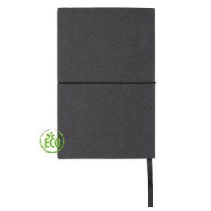 Recycled leder notitieboek zwart 5_web
