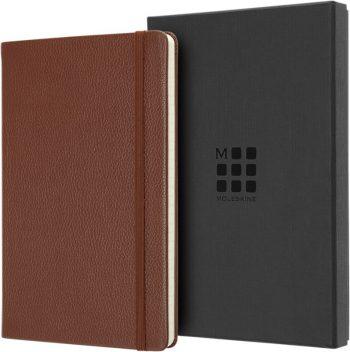 Moleskine Lederen Notitieboek Bruin in cadeauverpakking